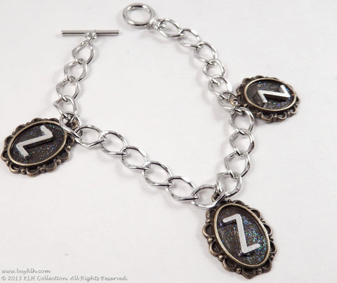 KLH's: Oval Initial Bracelet - KLH Collection - 1