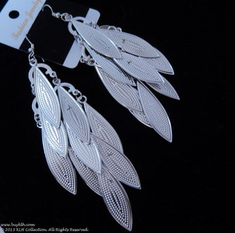 Silver Tier Earrings - KLH Collection