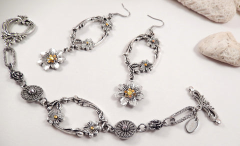 Apryl 2 Piece Bracelet & Earring Set - KLH Collection - 1