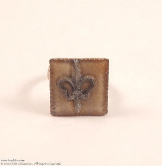 KLH's: Fleur Di Lis Adjustable, Glowing Ring - KLH Collection - 1