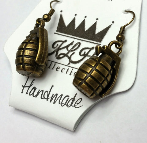 Grenade Earrings - KLH Collection