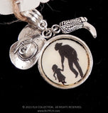 Country Daddy and Daughter Silhouette Pendant - KLH Collection - 1