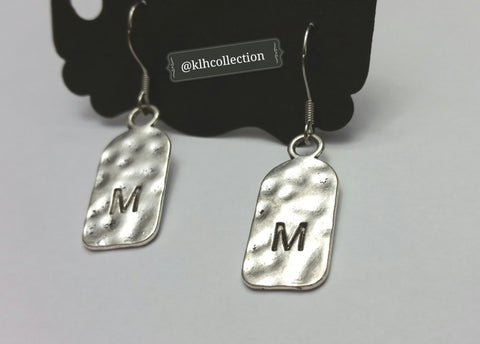 """M"" Initial Earrings - KLH Collection - 1"