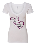 "Ladies' ""Protected By"" V Neck Tee - KLH Collection"