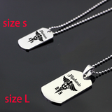 Nurse Dog Tag Necklace