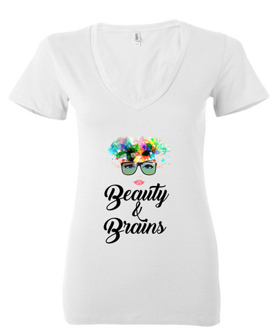 Beauty & Brains: Deep V Neck For Ladies