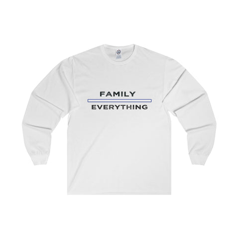 Family Over Everything: Adult Long Sleeve Tee For Ladies