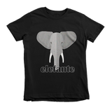 """Elefante"" Unisex Tee For Little Kids - KLH Collection"