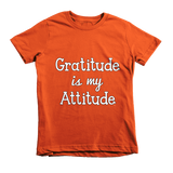 """Gratitude Is My Attitude"" Unisex Tee For Little Kids - KLH Collection"