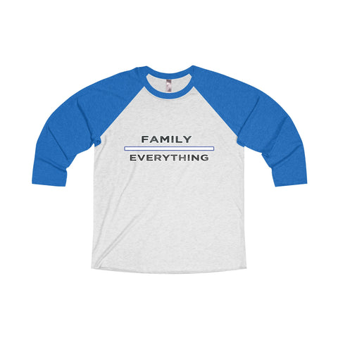 Family Over Everything:  3/4 Raglan For Ladies