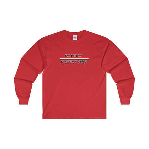 Family Over Everything: Ultra Cotton Long Sleeve T-Shirt For Ladies