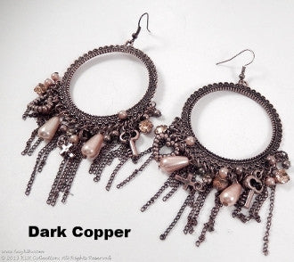 Hoop with Crosses Earrings - KLH Collection