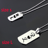 Initial Heart: Custom Dog Tag Necklace