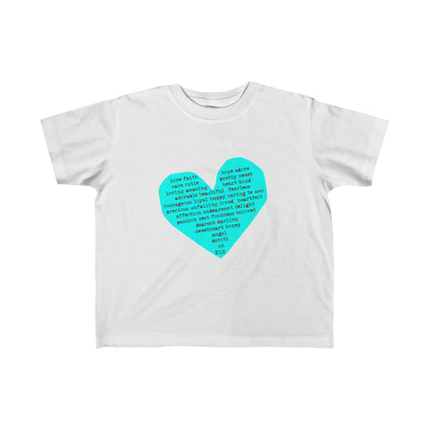 Rough Heart: Toddler Fine Jersey Tee For Babies