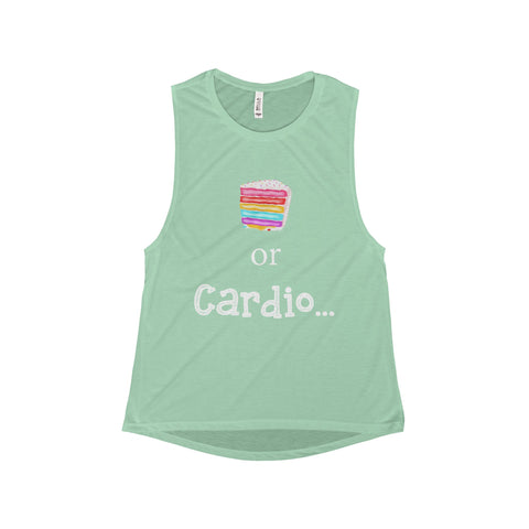 Cake or Cardio: Flowy Scoop Muscle Tank For Ladies