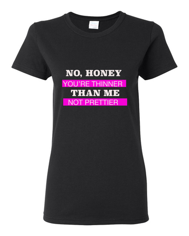 """Not Prettier"" Heavy Tee For Ladies - KLH Collection"