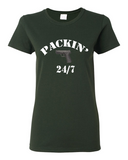 "Ladies' ""Packin"" Heavy Cotton Tee - KLH Collection"