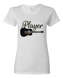 """Guitar Player"" Heavy Cotton Tee For Ladies - KLH Collection"