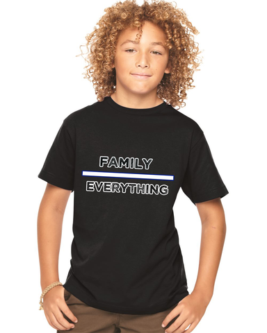 Family Over Everything: Youth Fine Jersey Tee For Big Kids