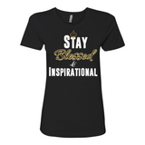 "Ladies' ""Stay Blessed"" Boyfriend Tee - KLH Collection"
