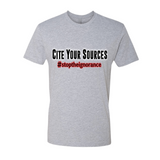 "Men's ""Cite Your Sources"" Premium Fitted Tee - KLH Collection"
