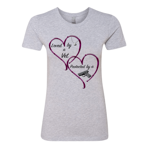 "Ladies' ""Protected By"" Boyfriend Tee - KLH Collection"