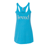 "Ladies' ""Loved"" Racerback Tank - KLH Collection"