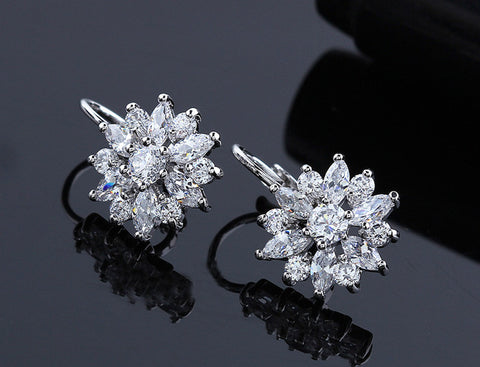 Crystal Dangle Earrings - KLH Collection