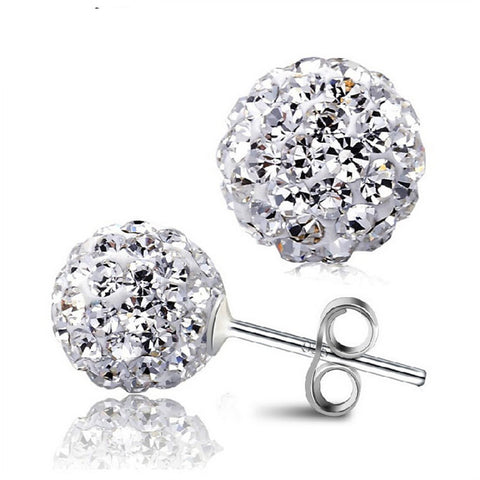 8 MM Shamballa Earrings: 10 colors - KLH Collection