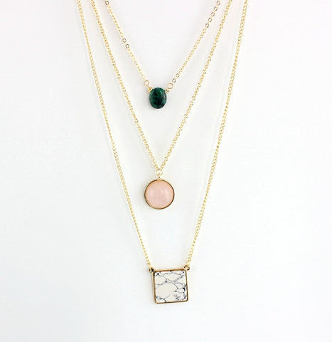 Quartz Layer Necklace - KLH Collection