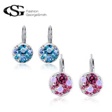 Round Crystal Earrings - KLH Collection