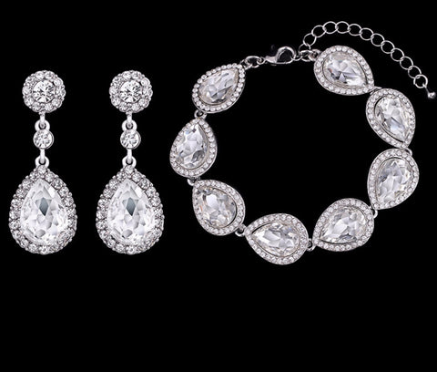 Victoria 2 PC Earring & Bracelet Set - KLH Collection