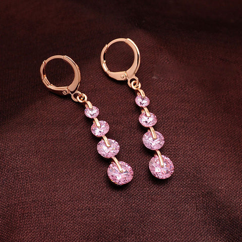 Drop Gem Earrings