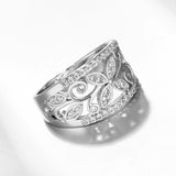 Bella Rose Flower Cubic Zirconia Ring - KLH Collection