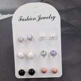 6 Pairs Stud Earrings