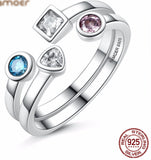 Sterling Silver Multi-Gem Ring - KLH Collection