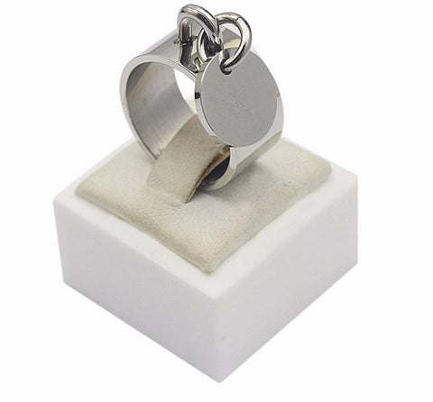 Dangle Charm Stainless Steel Ring - KLH Collection