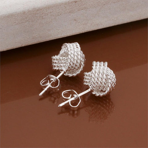 Silver Plated Ball Stud Earrings - KLH Collection