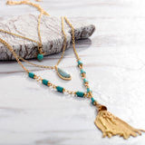 Bohemian Long Multi Layered Chain Necklace