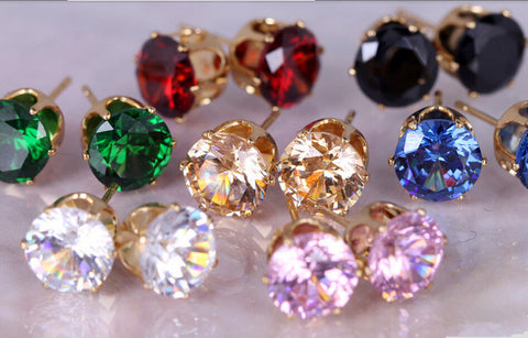Crystal Stud Earrings - KLH Collection