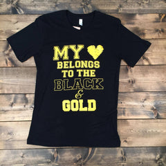 My Heart Belongs - Black & Gold
