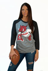 Hog Leaning On 'A' 3/4 SLEEVE