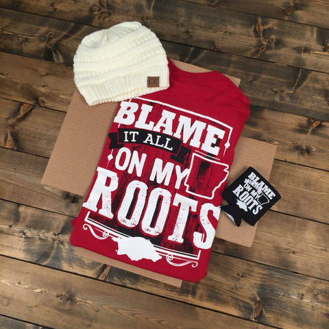 Gameday Gift Box - Blame It All On My Roots- Long Sleeve Red