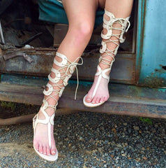 That's A Wrap Lace-up Sandals