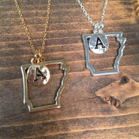 Arkansas is Home Necklace