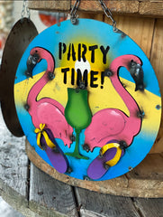 Party Time - Metal Sign