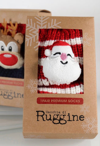 Santa Striped Socks