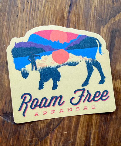 Roam Free Sticker