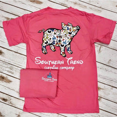 Once Upon A Pig Tee - Pink - Short Sleeve