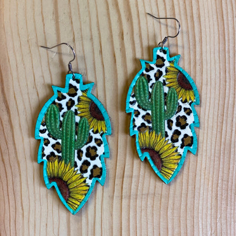 Sunflower Cactus earrings